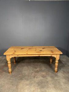 Mid 20th Century Pine Farmhouse Dining Table 6ft