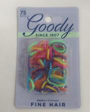 Goody Fine Hair Elastics, Assorted Neon Colors, 75 Elastics