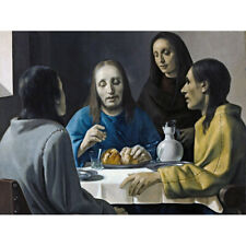 Van Meegeren Road Emmaus Christ Painting Canvas Art Print Poster