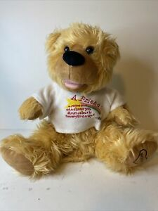"""Noah Benshea Bear """"A Friend Is"""" Poem Talking Animated - Tested - Good Condition"""