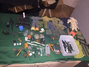 action man job lot Of Clothes, Accessories, Large Joblot