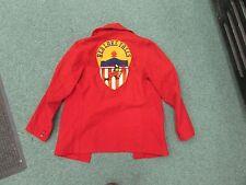 Vintage Fire Department Bemidji Woolen Mills jacket red lake falls mn fireman