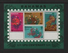 BAHAMAS 1974 CENTENARY OF U.P.U M/SHEET *FINE MLH*