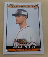 Michael Collins 2018/19 Australian Baseball League card - Canberra Cavalry