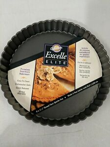 Wilton Excelle Elite Non-Stick Tart and Quiche Pan Removable Bottom 9 x 1-1/8 in