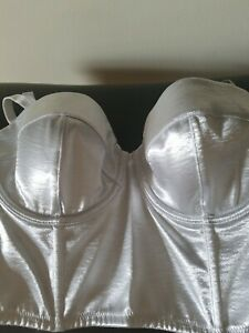Victoria Secret Bustier, Silver Satin Size 38B Cute, Sexy & Comfy. NWT