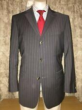 Hugo Boss Rosselini Movie Men's Suit Charcoal Pinstripe 38Rx32Wx30L