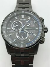 Men's Citizen Perpetual Chrono A-T Charcoal Grey Dial Watch AT4127-52H