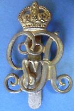Badge- WW1 Norfolk Yeomanry Cap Badge KC George V (BRASS, Genuine*)