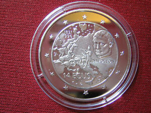 1996 Gibraltar Silver Proof 14 Ecu Napoleon