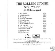 "Rolling STONES ""Steel Wheels"" 12 Track Promo CD UK"
