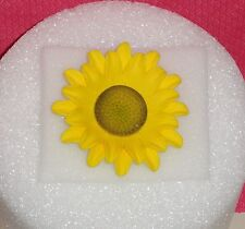Sun Flower,3in,Gum Paste,Floral Cake Decoration,Yellow,DecoPac , On Wire.