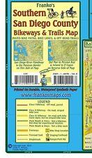 San Diego County - Southern - Bikeways & Trails Waterproof Map by Franko Maps