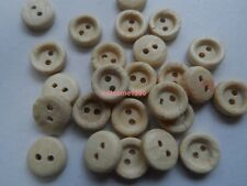 150pcs small 9mm Baby Scrapbooking Sewing natura Wood buttons Round 2holes