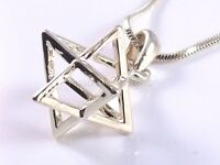 Merkaba Necklace Pendant 3d Star Of David Kabbalah Magen Gold Merkava Jewish