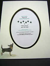 Picture Framing Dog Mats 8x10 for 5x7 Chihuahua  hand-colored Canine watercolor