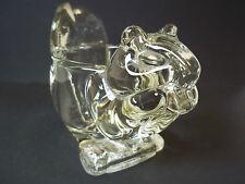Avon bright chipmunk clear glass votive holder
