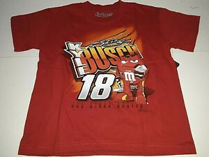 Kyle Busch # 18 Nascar Showtime Red Youth M&M's T-Shirt, Small