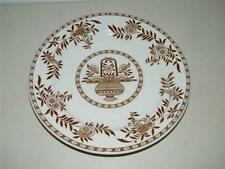 Vintage Sterling China USA Vitrified Brown Floral Dinner Plate 12562 M7