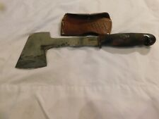 Kinfolks Hatchet And Leather Sheath Handle K Bakelite? Sheath In Bad Shape 11in