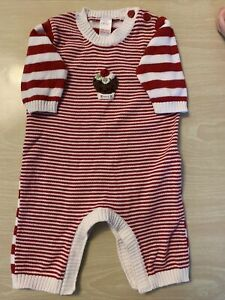 NEXT Baby Boy/Girl/Unisex Christmas Pudding Outfit/Romper 0-3 Months