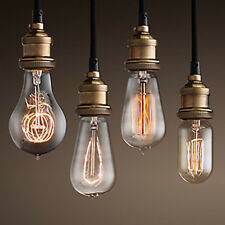 VINTAGE INDUSTRIAL BASE HANGING CEILING LAMP COPPER SHADE PENDANT LIGHTS FIXTURE