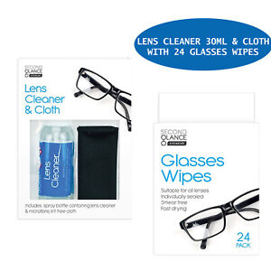 🔥 Glasses Cleaner Spray & Microfibre Cloth Wipes Spectacle Lens Camera Cleaning