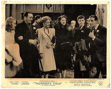 Thursday's Child original lobby card Sally Anne Howes with cast 1943