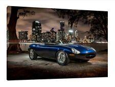 E-Type Jaguar - 30x20 Inch Canvas Art Work - Framed Picture Eagle Speedster