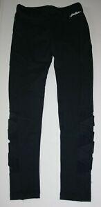 NEW Justice Black Athletic Full Length Leggings Mesh Strappy 12 14 16 18 Plus Yr