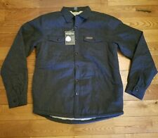 NWT Mens FIELD & STREAM  Grey Sherpa-Lined Flannel Shirt Jacket Size S $100