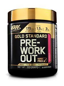 Optimum Nutrition Gold Standard Pre Workout Energy Training Focus Booster - 330g
