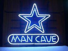 """New Man cave Dallas Cowboys NFL Beer Pub Bar Neon Light Sign 20""""x16"""""""