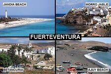 SOUVENIR FRIDGE MAGNET of FUERTEVENTURA CANARY ISLANDS SPAIN