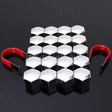 20Pcs 19mm Chrome Car Plastic Caps Bolts Head Covers Nuts Alloy Wheel Matt + KEY