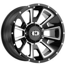 Vision 391 Rebel 20x10 6x1356x55 25mm Blackmilled Wheel Rim 20 Inch Fits Toyota