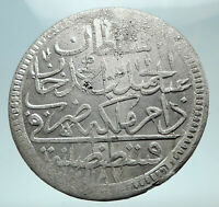 1774-1784 TURKEY Sultan Abdul Hamid I Ottoman Empire Silver 2 Zolota Coin i80874