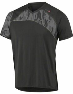 Louis Garneau Andes MTB Short Sleeve T-Shirt: Black/Gray Men's XL