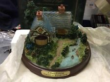 """Retired Thomas Kinkade """"A Quiet Evening"""" lighted cottage collection rare"""