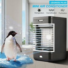 Mini Air Conditioning Conditioner Unit Fan Portable Low Noise Home Cooler Black