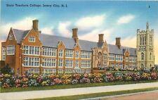 Jersey City NJ~New Jersey State Teachers College~Flowering Bushes~1940s Linen PC