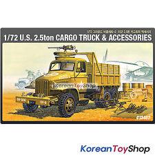 Academy 13402 1/72 Plastic Model Kit US 2.5ton Cargo Truck & Accessories Series2