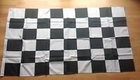 BLACK & WHITE CHECKERED FORMULA 1 F1 FLAG 5X3FT 5'X3' EYELETS FOR HANGING