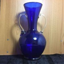 Art Glassware Vase Blue Glass