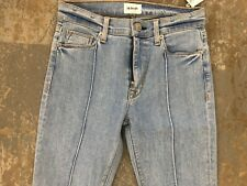 NWT Hudson Women Jean Barbara HIGH Rise Super Skinny Jeans PINTUCK NYMPH SIZE 25