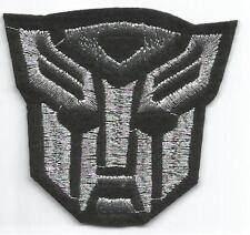 Transformers Autobot Silver Black Logo Patch - Sew-on / Iron-on Patch