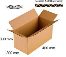20 Faltkartons 400x200x300mm B-410g/m2  Versandkarton Falt Kartons [ BRAUN ]