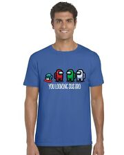Among Us You Looking Sus Bro Kids T-Shirt Tee Top Gaming Gamer
