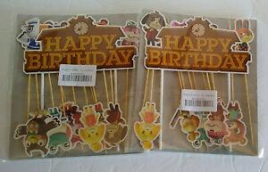 Cupcake/Cake Toppers Happy Birthday (2) Pks Animal Crossing
