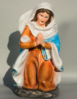 Madonna Statue Christian Our Lady Religious Sculpture Blessed Mother Kneeling